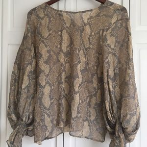 Snake pattern blouse